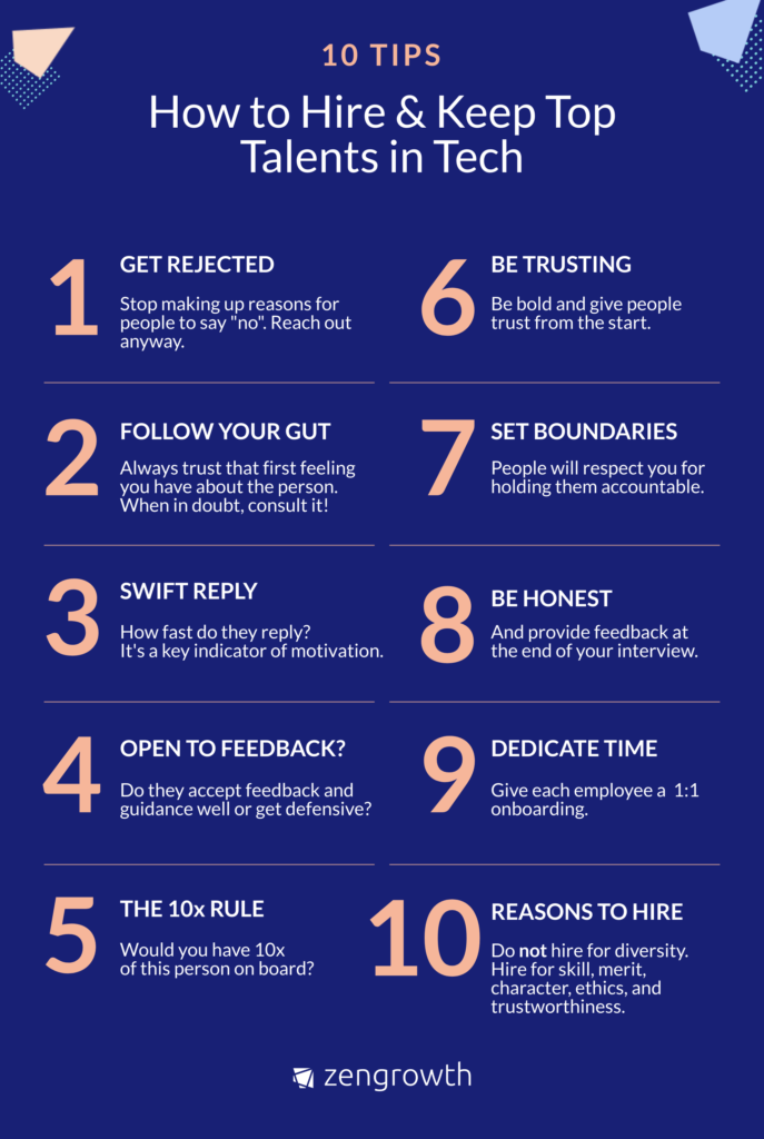 10 hiring rules infographic