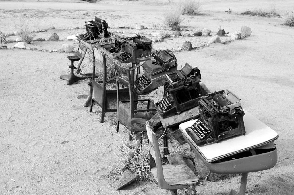 Typewriters, types of content