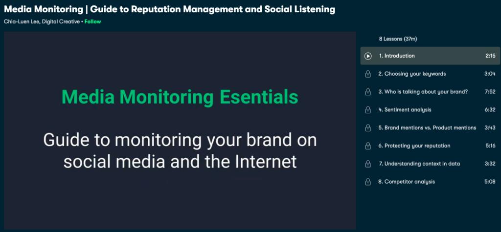 Social listening, media monitoring