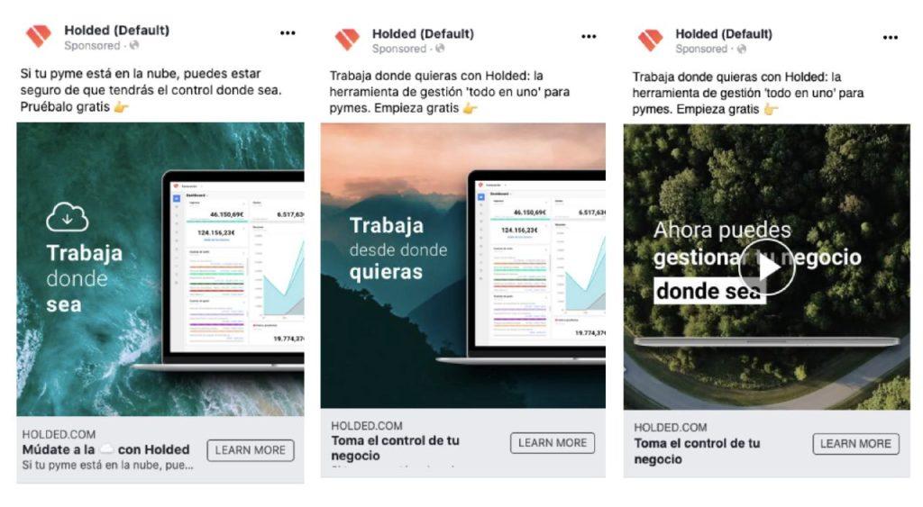 Holded Facebook ads